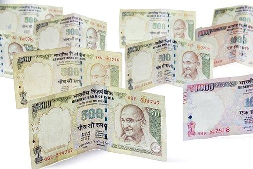 Dinheiro, Moneycity, 500, Rúpias, Notas