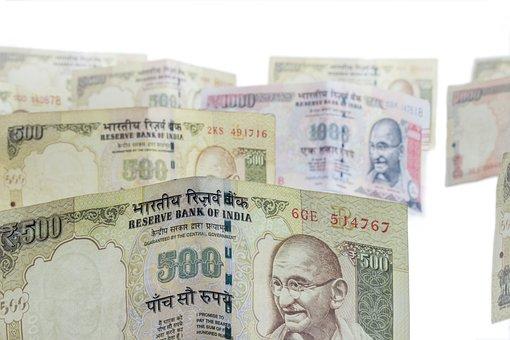 Dinheiro, Moneycity, 500, 1000, Rúpias