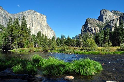 自然, ヨセミテ国立公園, 米国, 風景, 水