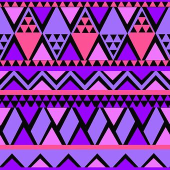 Seamless Purple Pink Pattern Tribal E