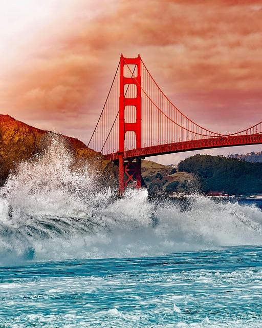 Golden Gate Bridge San Francisco California Sunset Picture: Free Photo: San Francisco, California