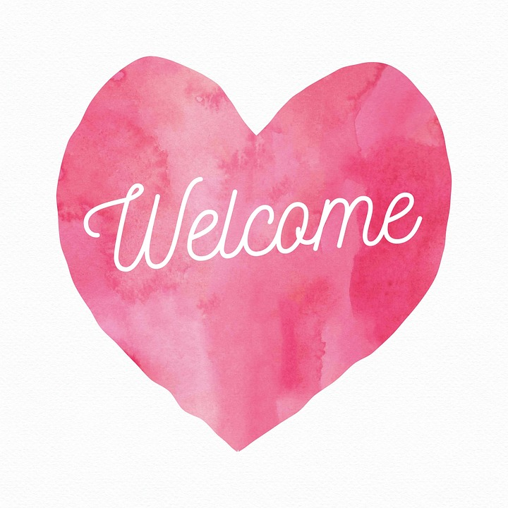 pink welcome