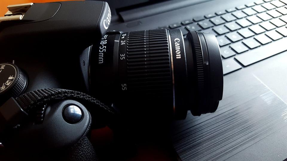 Canon 4k Video Camera >> Kostenloses Foto: Kamera, Canon, Pc, Notizbuch - Kostenloses Bild auf Pixabay - 1815480