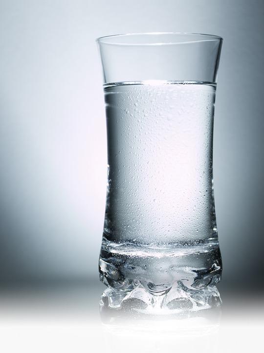 Glas, Wasser, Tropfen, Spiegelung, Gertränk