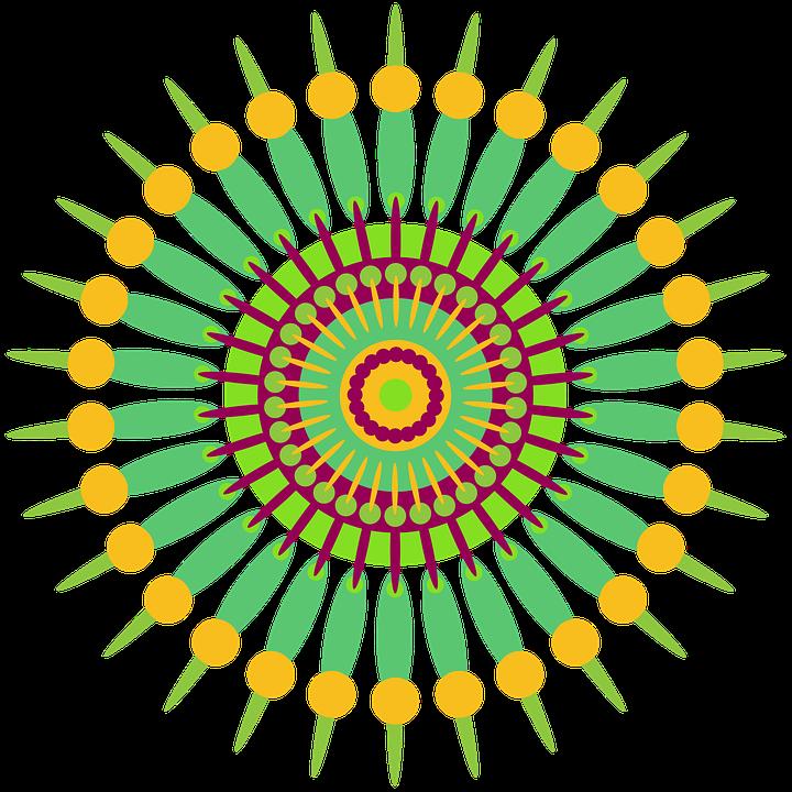 Extrêmement Illustration gratuite: Mandala, Géométrique, Design - Image  DP54