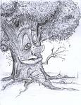 tree, creepy, scary
