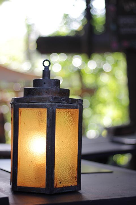 Lumière, Vintage, Bokeh, Disney, Lampe, Vieux