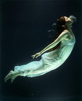 Under Water, Fashion, Woman, Underwater