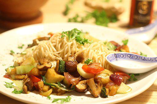Noodles, Asia, Vegetables, Eat, Chinese