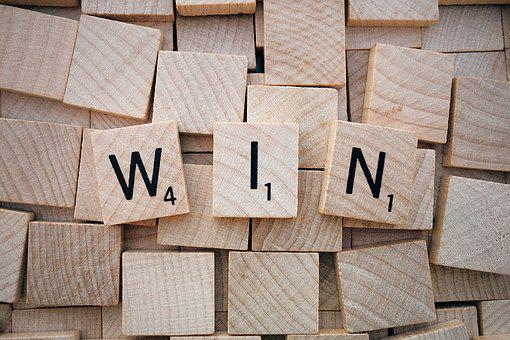 Win, Word, Scrabble, Letters, Wooden