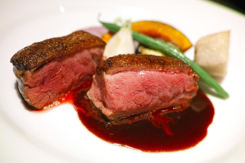 レストラン, 料理, 食べ物, フレンチ, フランス料理, 鴨肉, シャラン鴨, グルメ