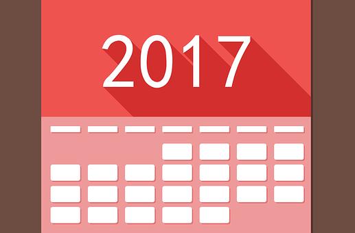 Calendar, 2017, Date, Time, Event, Plan