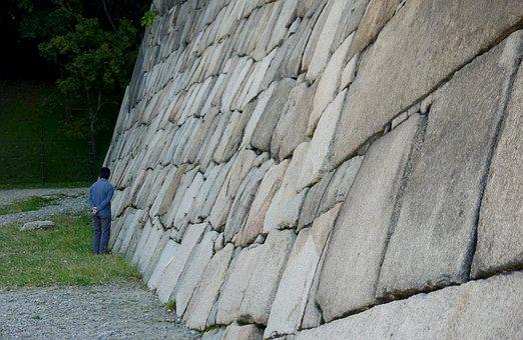 Au Pied Du Mur, Mur, Muraille, Japon