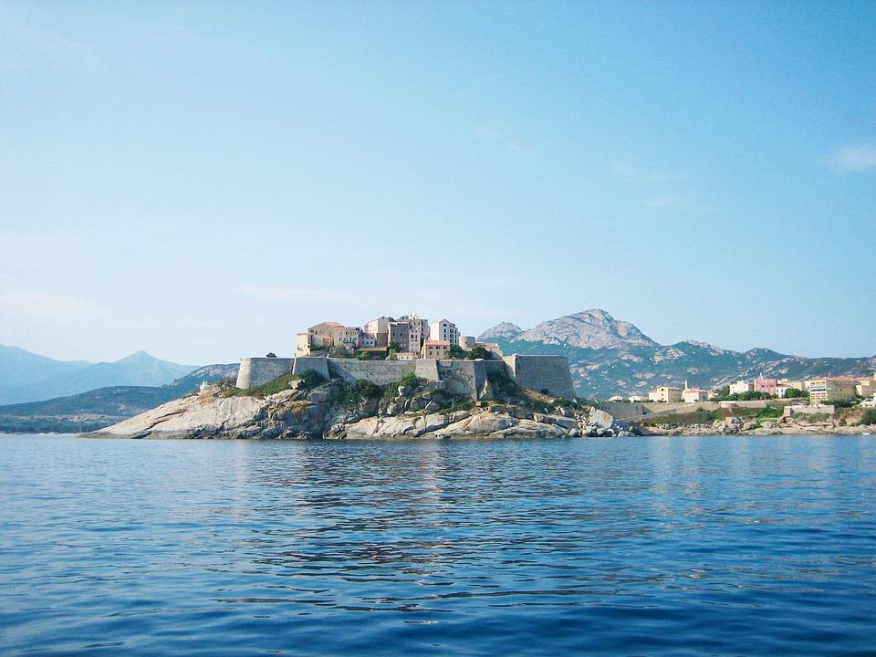 Calvi, Citadelle, Corse, Mer
