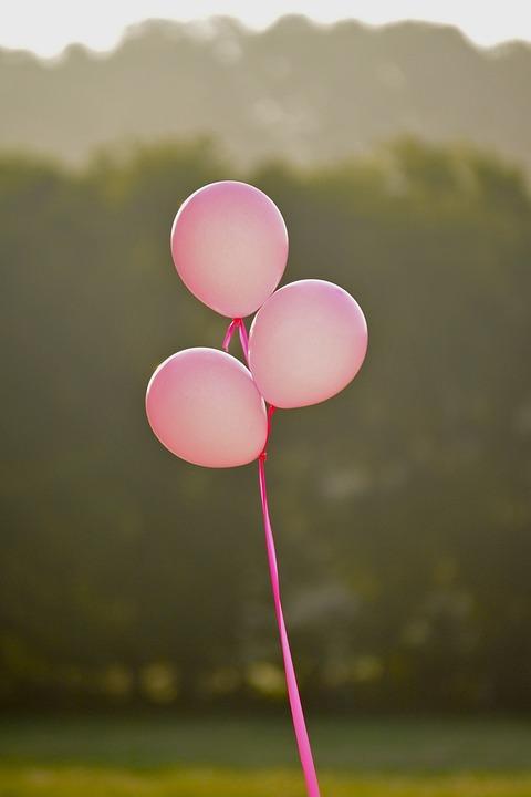 Roze, Roze Ballonnen, Kanker Van De Borst, Meisje