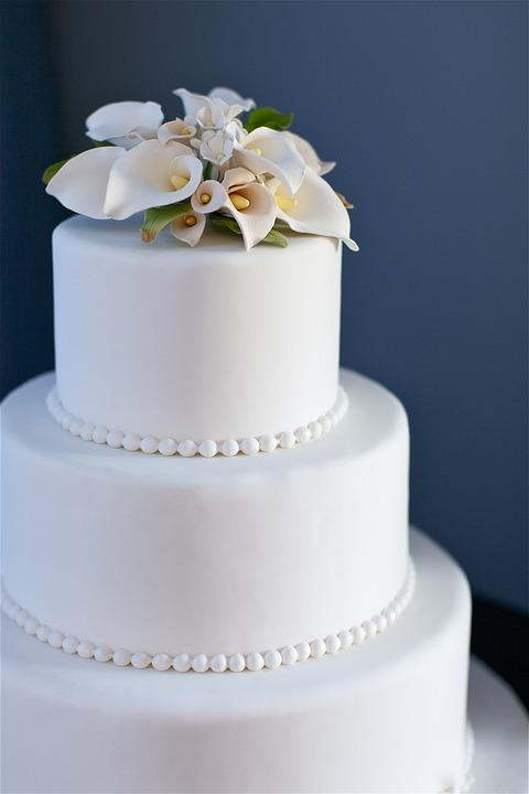Blau Kuchen Hochzeitstorte Kostenloses Foto Auf Pixabay