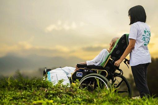 ホスピス, ケア, 患者, 高齢者, 古い, 高齢者の診療, サポート, 病気