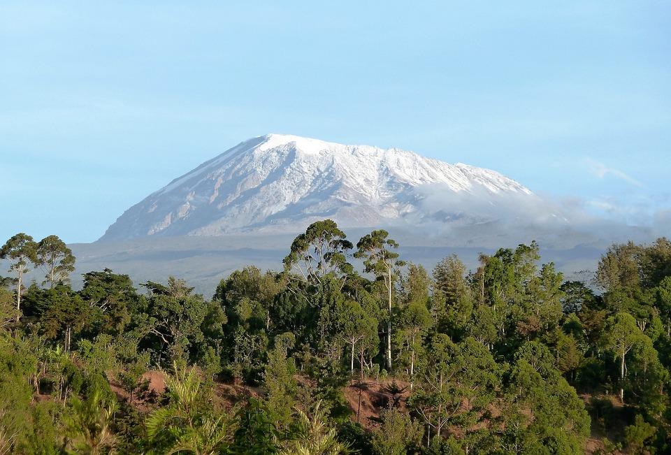 Charakter, Kilimandżaro, Góra, Tanzania, Śnieg, Afryka