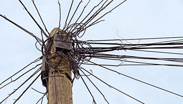 Telephone, Telegraph, Pole, Wire