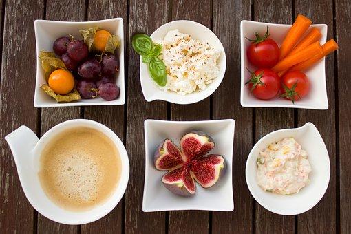 Завтрак, Овощи, Кофе, Рис, Фруктов, Сыр