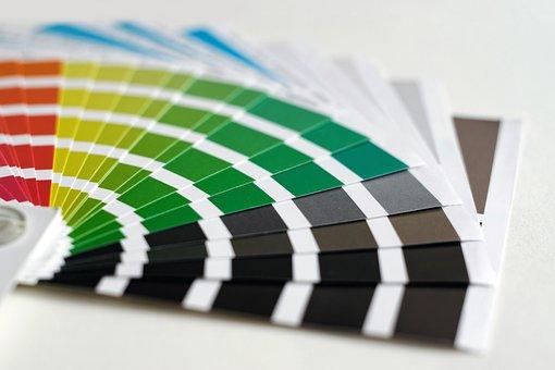 印刷, 色, ステンシル, パレット, デスクトップパブリッシング, 紙