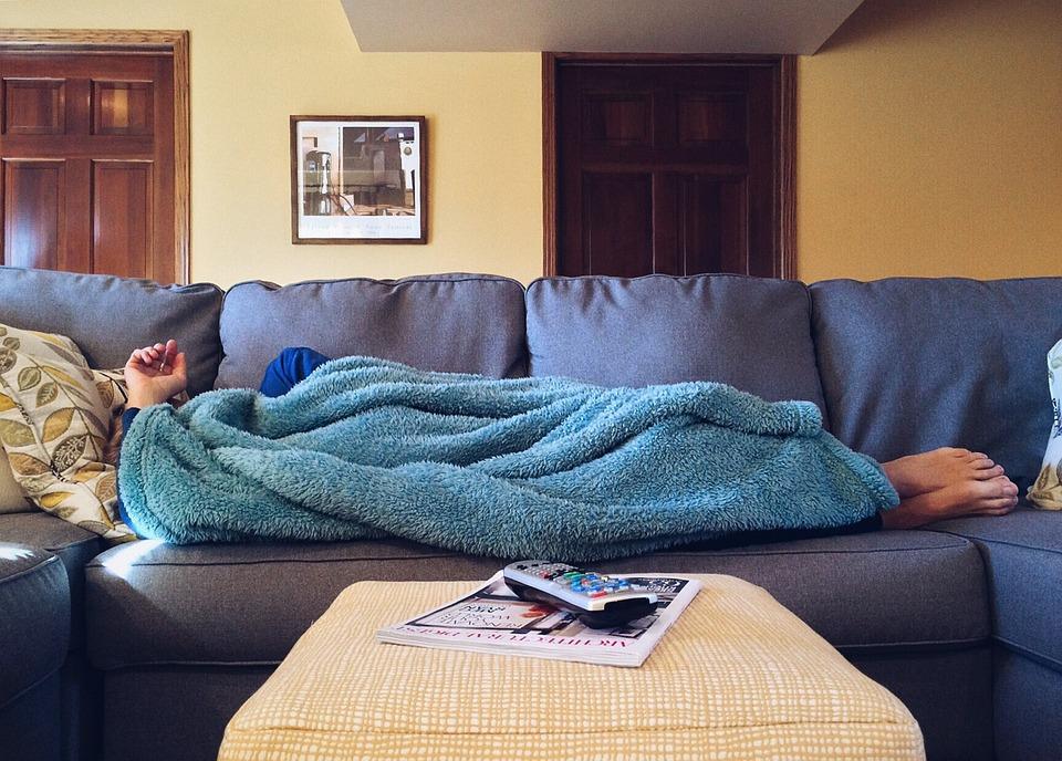 Home, Vida, Sofá, Confortável, Relaxamento, Masculino
