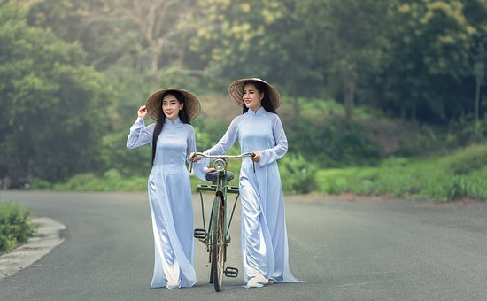 Bicycle, Asia, Lady, Thailand, Hat