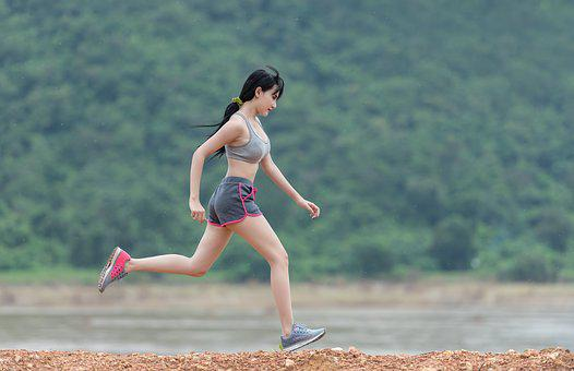 Lady, Joging, Rush, Sports, Outdoor, Eye