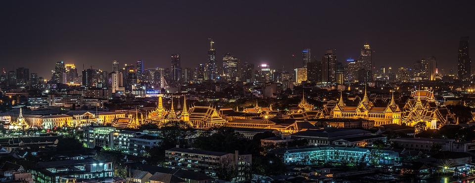 Grand Palace, Bangkok, Temple, Night, Wat Phra Kaew