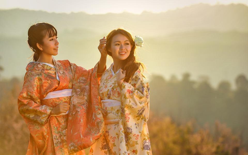 Meisjes, Asia, Kimono, Geisha'S, Ceremonie, Jurken