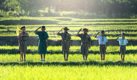 Boys, Scout, Scouting, Asia, Same