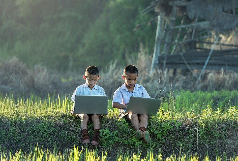Children, Study Of, Laptop, Vietnamese, Thailand, Enjoy