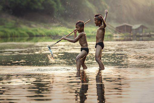 Fishing, As Children, The Activity, Asia