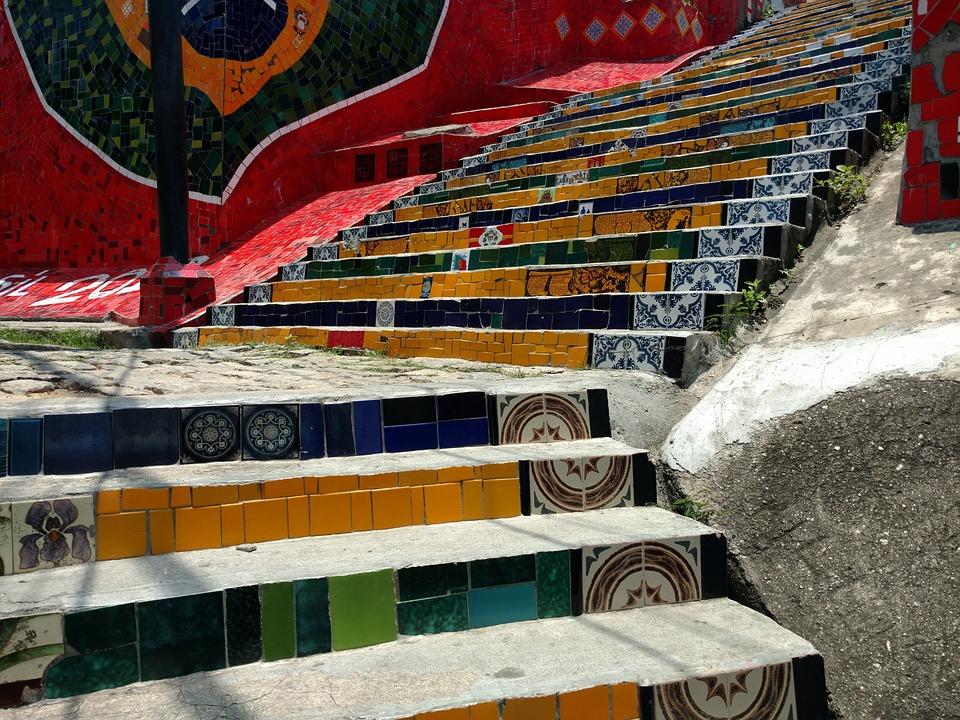 درج إسكادريا سيلارون بمدينة ريو دي جانيرو البرازيلية
