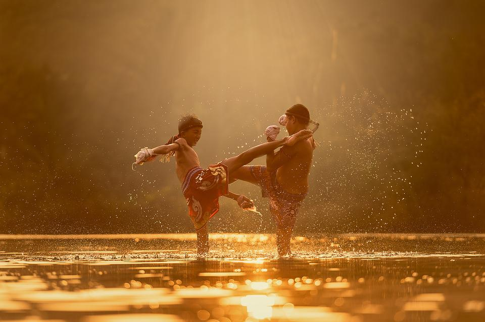 Children, Fight, River, Attack, Martial Arts, Boxing