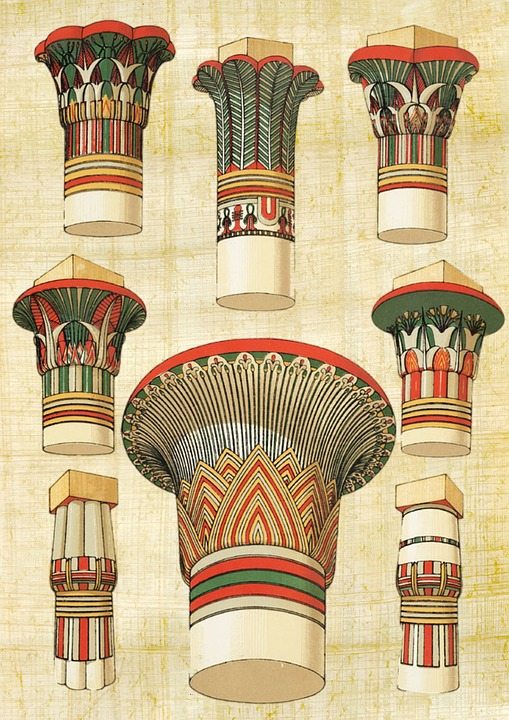 free illustration: egyptian, architecture, column - free image on