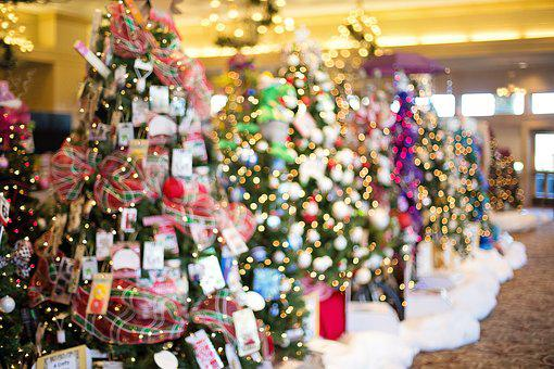 Karácsonyfa, Díszített, Holiday