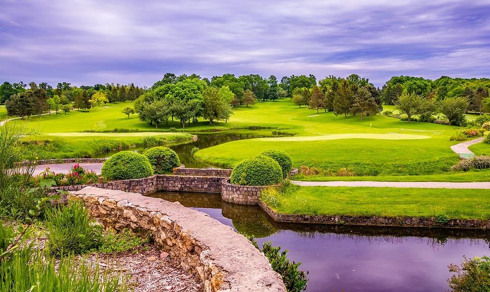 golf course france landscape free photo on pixabay