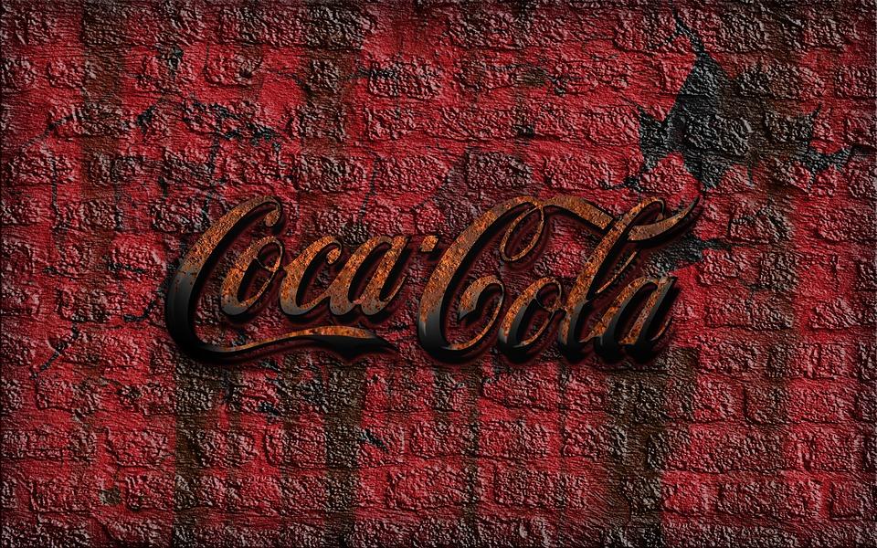 Coque, Coca Cola, Pared De Ladrillo, Óxido, Signo