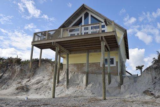 Beach Erosion, Hurricane Matthew, Damage
