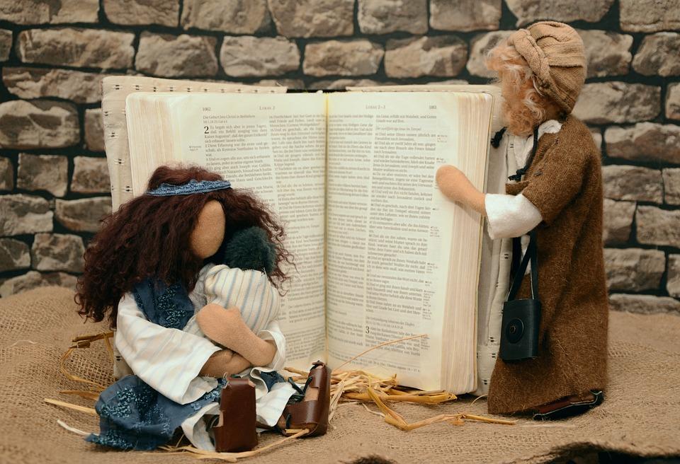 数字, 人形, 聖書の物語フィギュア, マリアとヨセフ, イエスの誕生, 子, クリスマスの物語, ルーカス