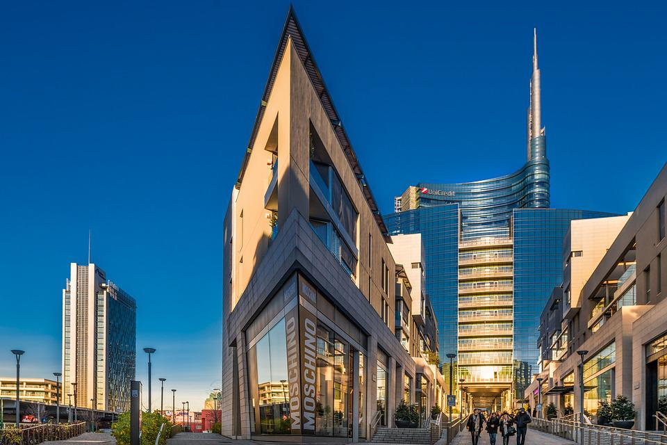 Milano, Italia, Lombardia, Moda, Affari, Banche