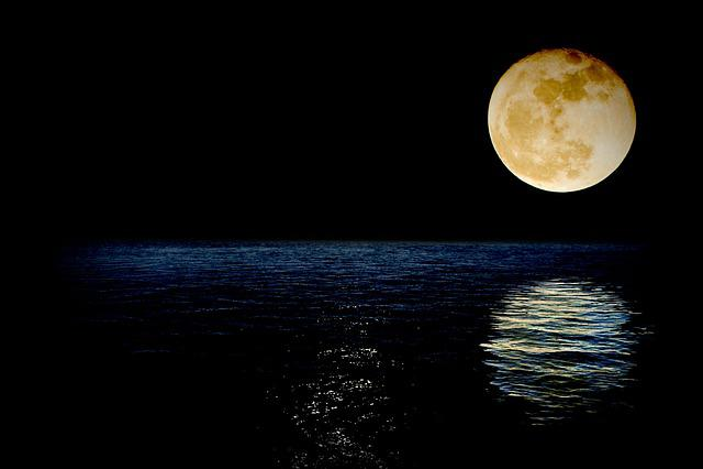 Foto Gratis: Luna, Super, Superluna, Mare
