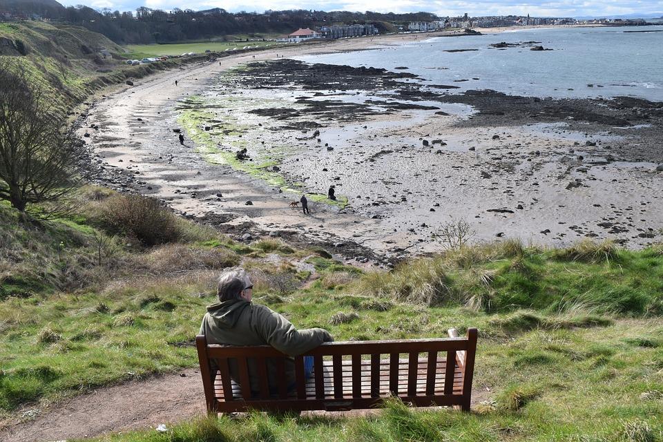 View of beach at North Berwick