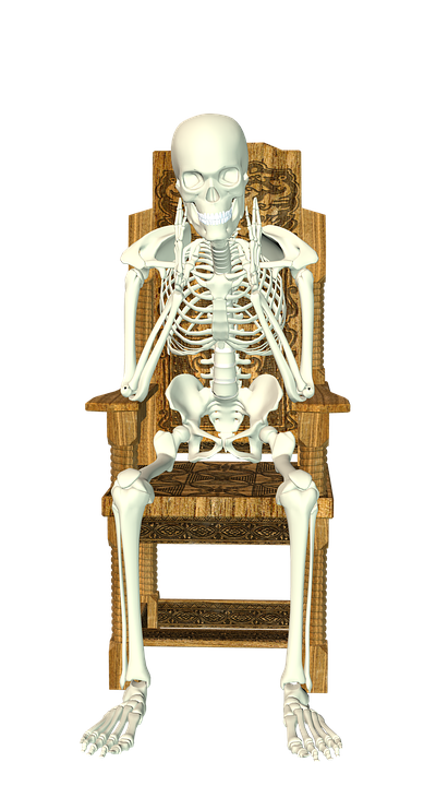 Skeleton chair sit free image on pixabay - Stuhl transparent ...