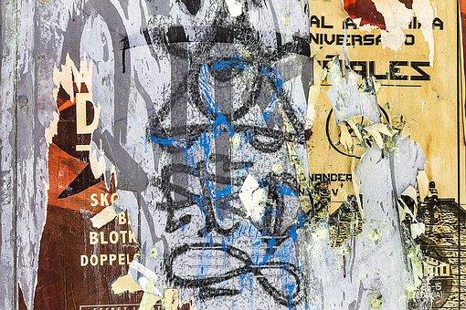 Background Graffiti Grunge Torn Paper