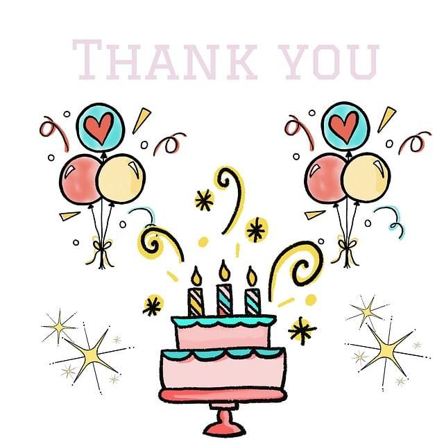 Birthday Thanks Balloons 183 Free Image On Pixabay