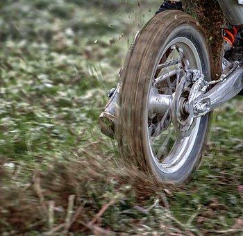 车轮, 摩托车, 自行车, 摩托车越野赛, 后, 泥, 竞赛, 侧滑, 运动图片
