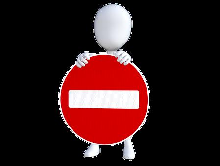 エントリなし, 停止, ビジネス, 制限, 禁止, シンボル, トラフィック