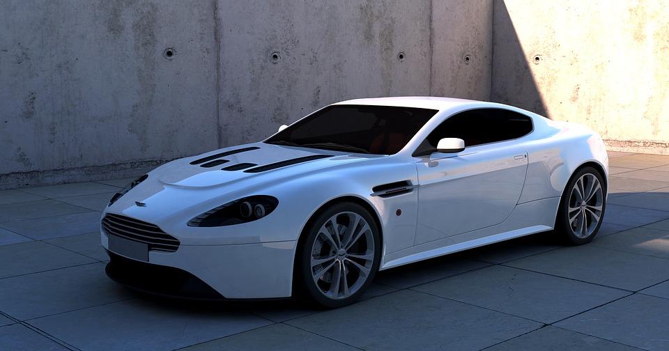 Aston, Martin, Vantage, Sports Car, White Room, Auto